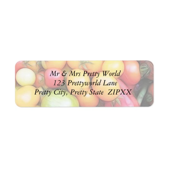 Harvest Time - Tomatoes! Return Address Label