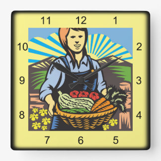 Harvest Time Wall Clock