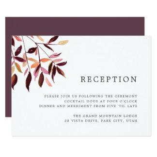 Harvest | Watercolor Foliage Reception Card