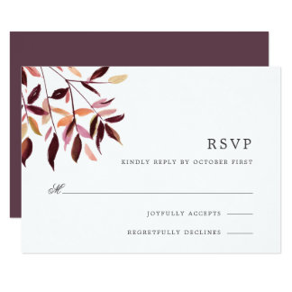 Harvest | Watercolor Foliage RSVP Card