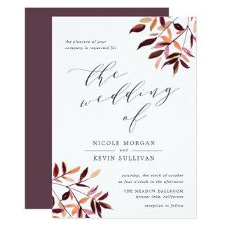 Harvest | Watercolor Foliage Wedding Invitation