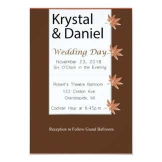 Harvest Wedding Card