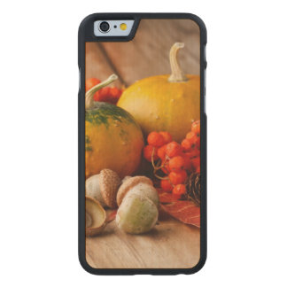 Harvested pumpkins with fall leaves 2 carved® maple iPhone 6 slim case