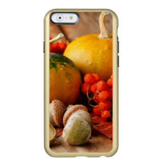 Harvested pumpkins with fall leaves 2 incipio feather® shine iPhone 6 case
