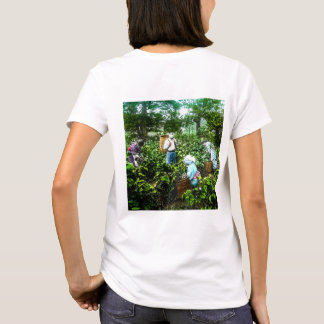 Harvesting Green Tea Leaves Old Japan Farmers T-Shirt