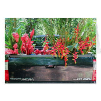 Harvesting Hawaiian Tropicals Card