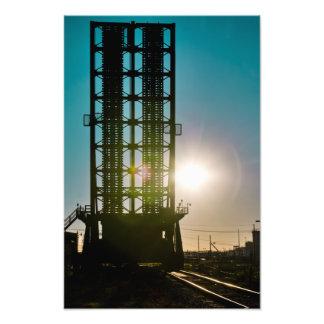 Harvey Canal Bridge Silhouette Photo Art