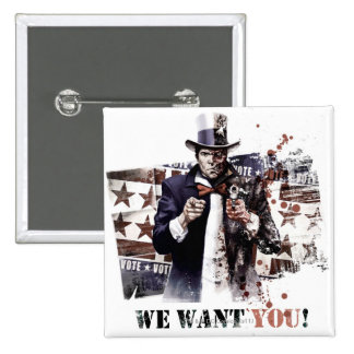 Harvey Dent - We Want You! 15 Cm Square Badge
