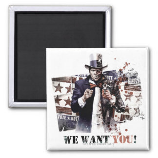 Harvey Dent - We Want You! Square Magnet