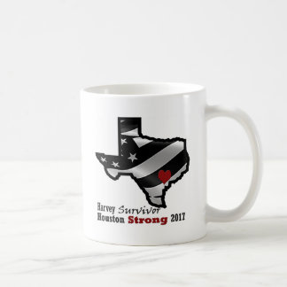 Harvey Design bk wht rd Coffee Mug