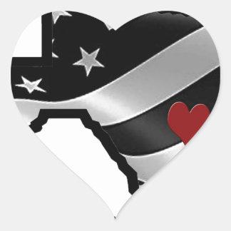 Harvey Design bk wht rd Heart Sticker