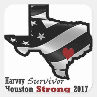 Harvey Design bk wht rd Square Sticker