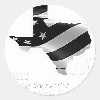 Harvey Design wht txt.gif Classic Round Sticker