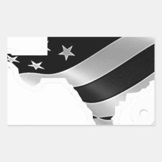 Harvey Design wht txt.gif Rectangular Sticker