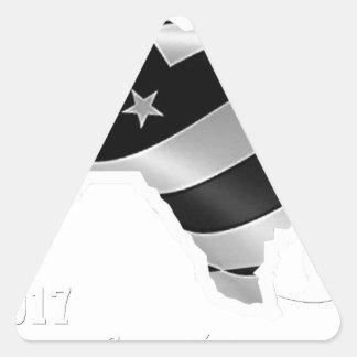 Harvey Design wht txt.gif Triangle Sticker