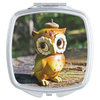 Harvey the Owl III Makeup Mirror
