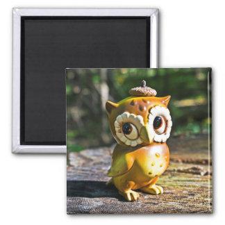 Harvey the Owl III Square Magnet