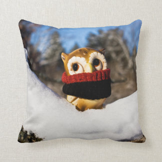 Harvey the Owl IV Throw Pillow