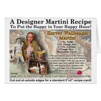 Harvey Wallbanger Martini Recipe Card