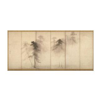Hasegawa Tohaku Pine Trees 16th fawn Japanese Canvas Print
