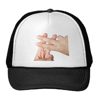 Hash tag mesh hats