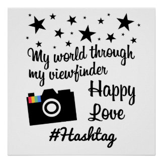 # hash tag in star gram wind poster