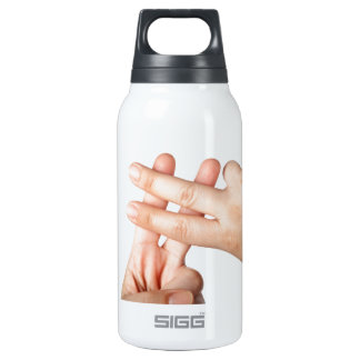 Hash tag insulated water bottle