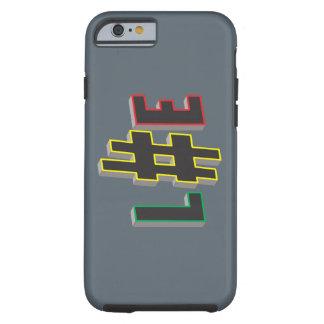 hash tag life rasta Case-Mate Tough iPhone 6 Case