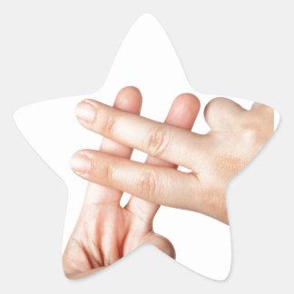 Hash tag star sticker