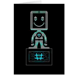 Hash Tag Super hero Card