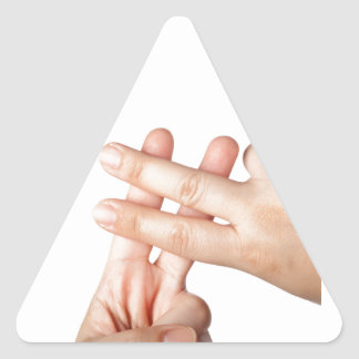 Hash tag triangle sticker