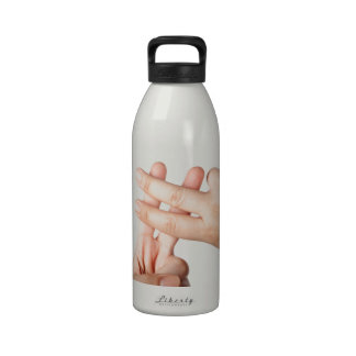 Hash tag reusable water bottle