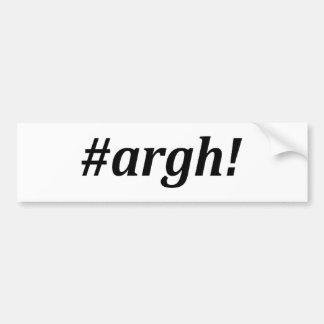 Hashtag - Argh! Bumper Sticker