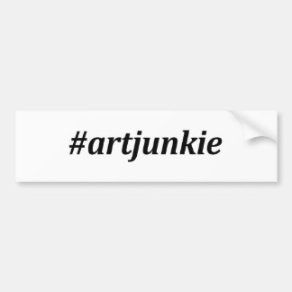 Hashtag - Art Junkie Bumper Sticker