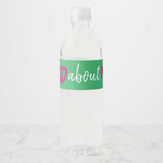 Hashtag Bachelorette Bottle Label Pink Green White