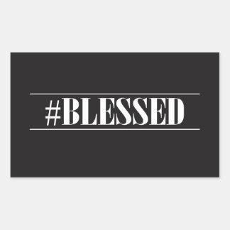 Hashtag Blessed Rectangular Sticker