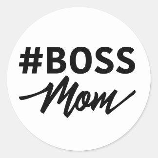 Hashtag #BOSS MOM Typography sticker