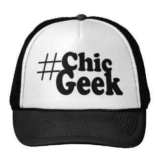 Hashtag Chic Geek Art Gifts Cap
