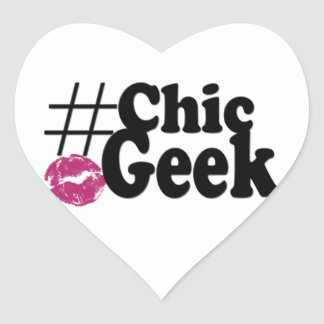 Hashtag Chic Geek Kiss Art Gifts Stickers