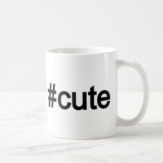 Hashtag # Cute Basic White Mug