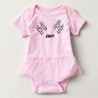 Hashtag Dance Pink Baby Tutu Bodysuit