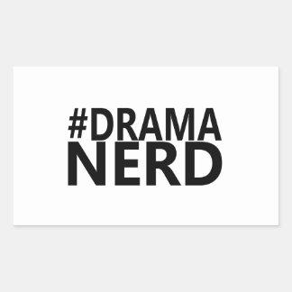 Hashtag Drama Nerd - Funny Shirt Actor Actress Rectangular Sticker