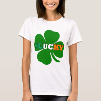 Hashtag feck text Irish St Patricks T-Shirt
