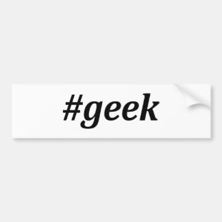 Hashtag - Geek Bumper Sticker