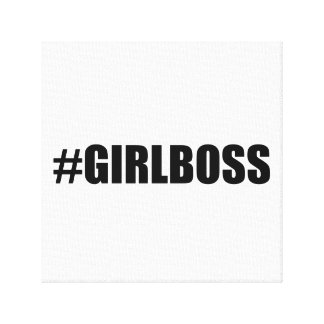 Hashtag Girl Boss Canvas Print