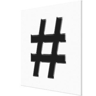 #HASHTAG - Hash Tag Symbol Stretched Canvas Prints
