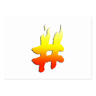 #HASHTAG - Hash Tag Symbol on Fire Business Card Templates
