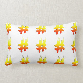 #HASHTAG - Hash Tag Symbol on Fire Pillows