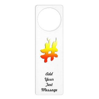 #HASHTAG - Hash Tag Symbol on Fire Door Hanger