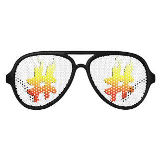 #HASHTAG - Hash Tag Symbol on Fire Aviator Sunglasses